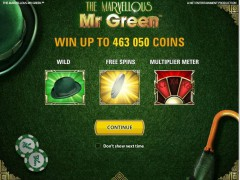The Marvellous Mr Green gryautomaty77.com NetEnt 1/5