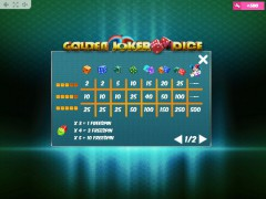 Golden Joker Dice gryautomaty77.com MrSlotty 5/5